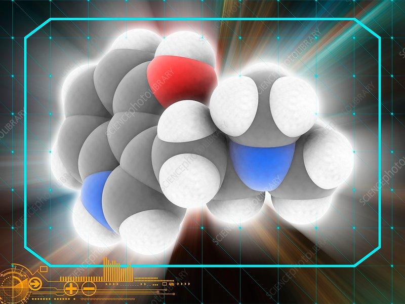 Psilocin drug molecule