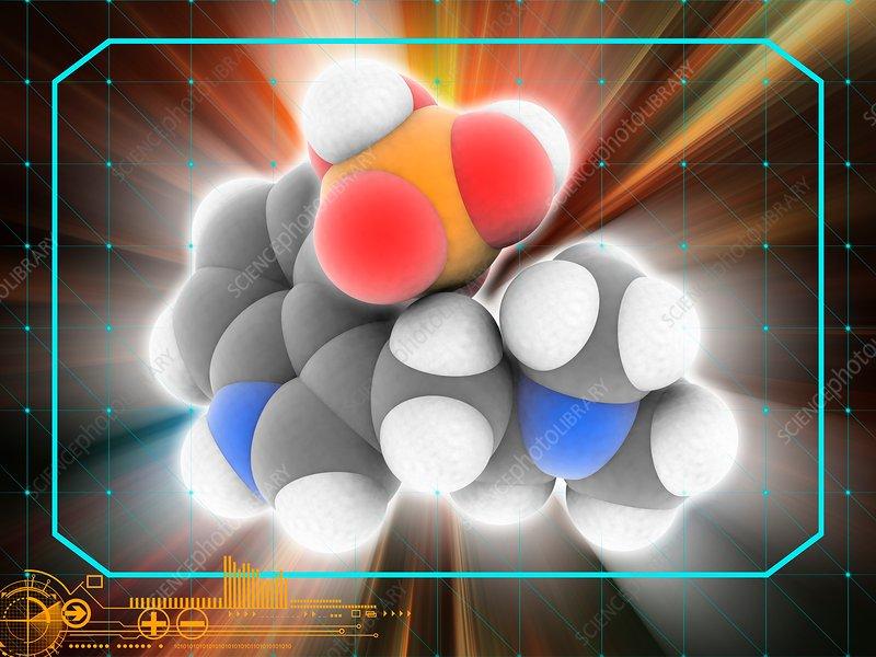 Psilocybin drug molecule