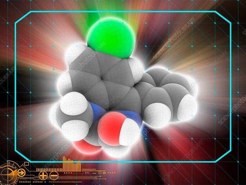 Temazepam drug molecule