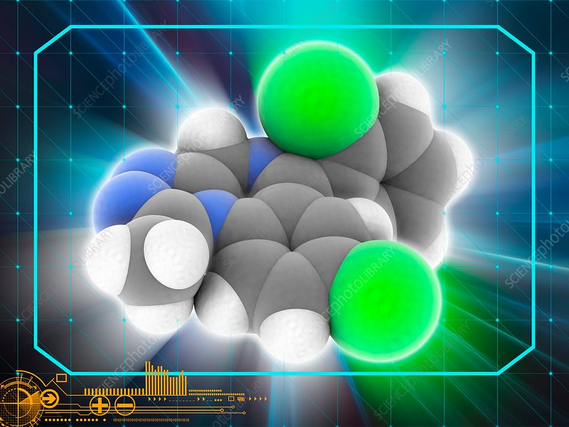 Triazolam drug molecule