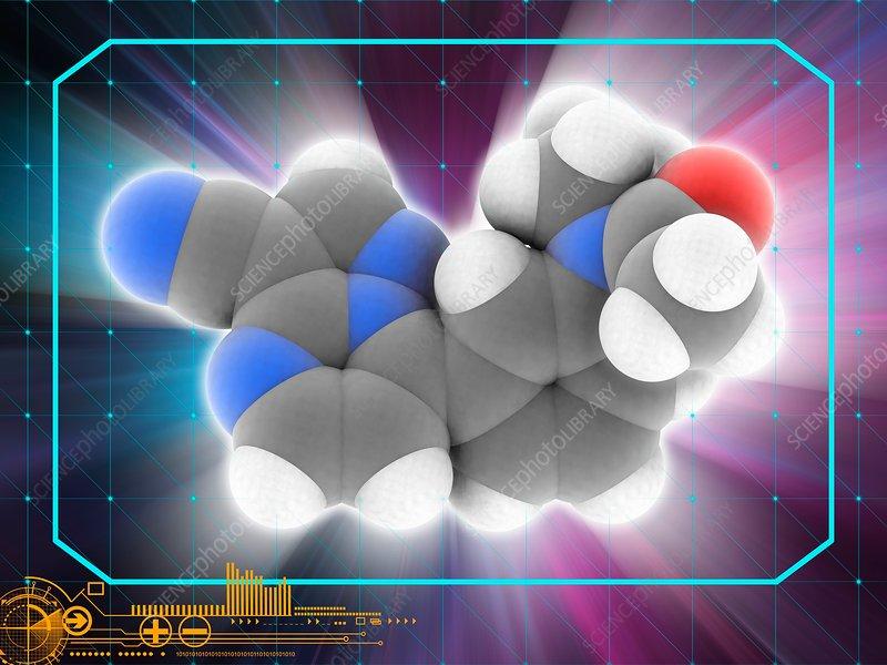 Zaleplon drug molecule