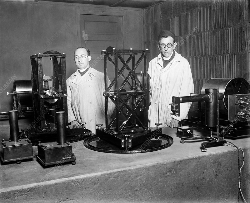Early seismographs, 1929
