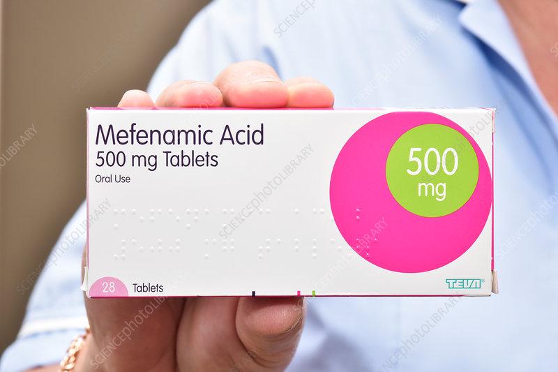 Mefenamic acid drug packaging