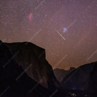 Perseid meteor over Yosemite