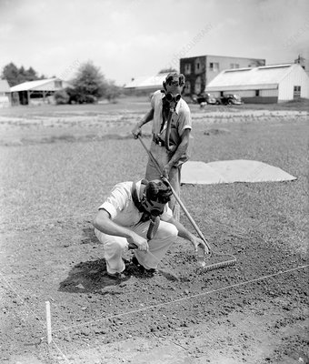 Weedkilling gas treatment, 1938