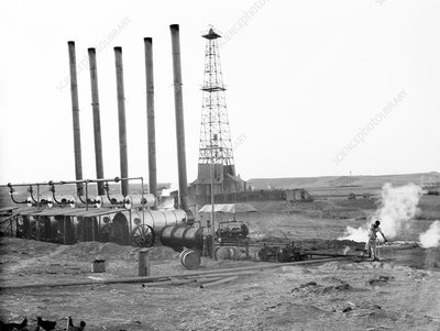 Oil well in Iraq, 1932