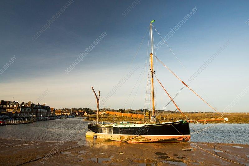 Traditional wooden sailing boat, UK