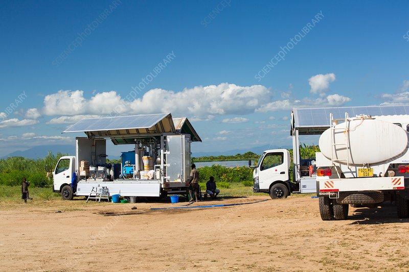 Water purification truck, Malawi