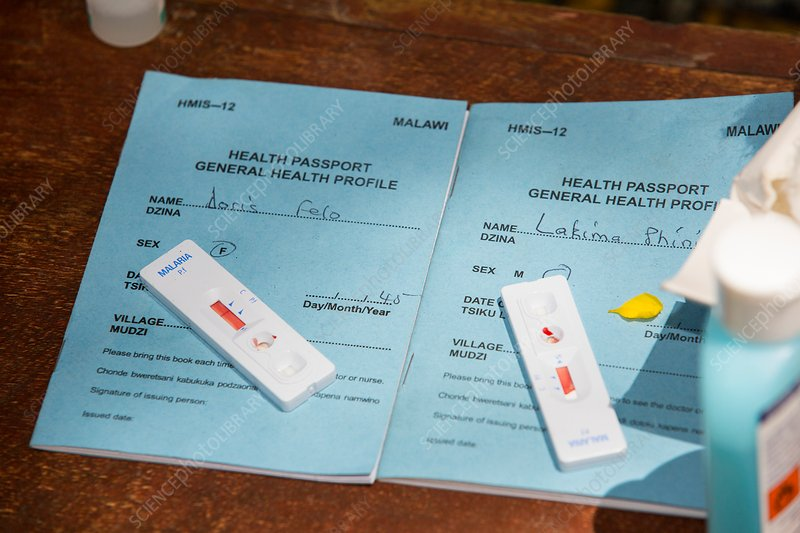 Blood test for malaria