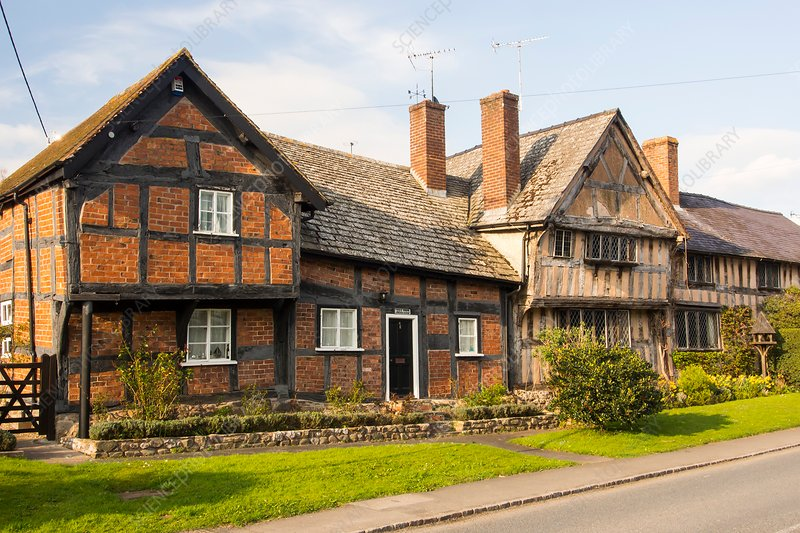 Tudor timber framed houses, UK