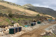 Scandale Beck hydro scheme construction