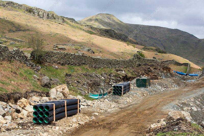 Scandale Beck hydro scheme construction