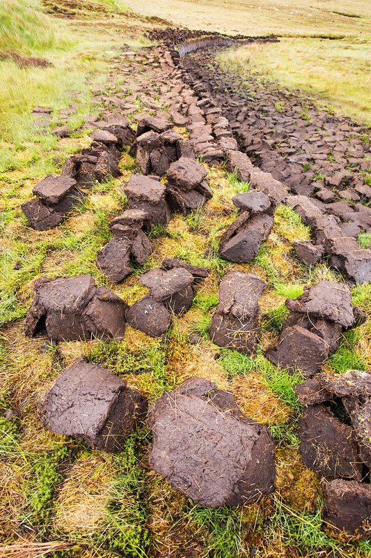 Peat cutting for fuel