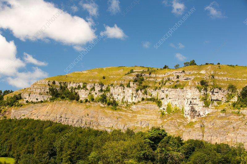 Limestone escarpment, Cumbria, UK