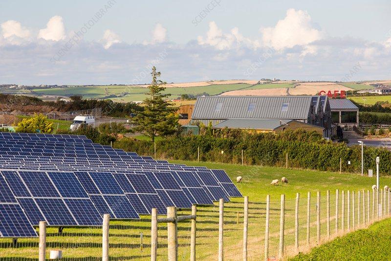 Farm based solar plant, Cornwall, UK