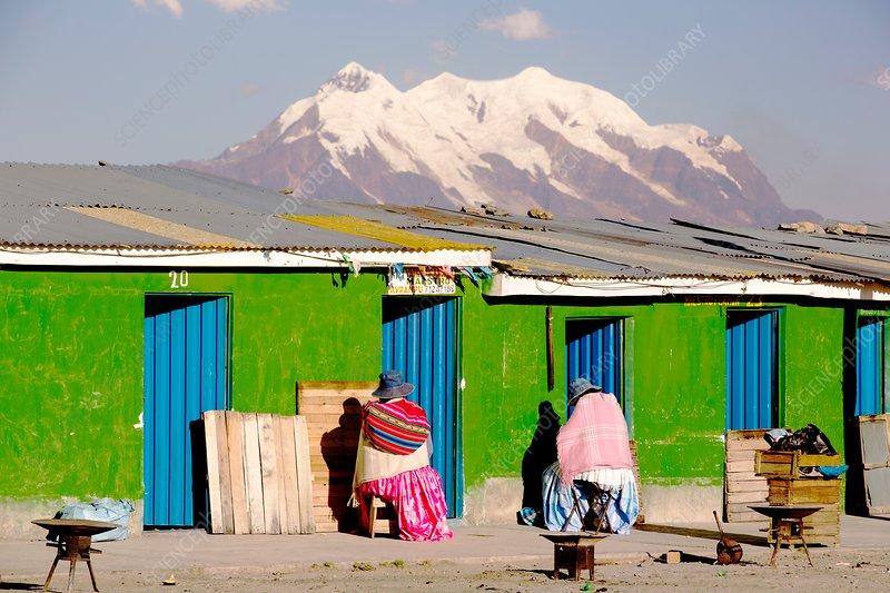 Illimani and La Paz, Bolivia