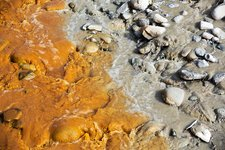 River contaminated with mine effluent