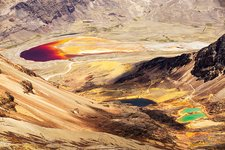 Colourful lakes, Bolivian Andes