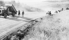 Road construction, 1930s