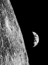 Earthrise from Lunar Orbiter 1, 1966