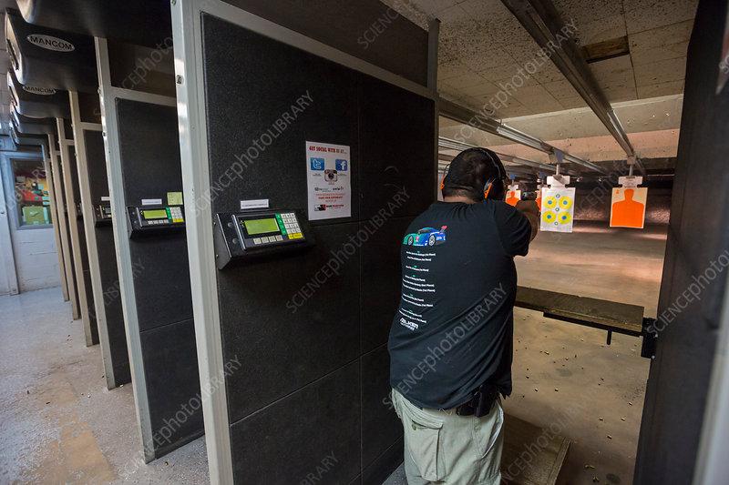 Shooting range, Las Vegas, USA
