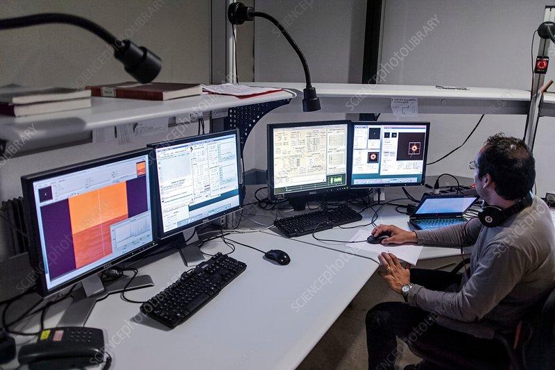 ESO 3.6 metre telescope control room