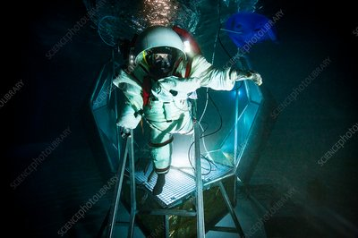 Gandolfi II spacesuit night training