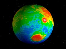 Mars topography and elevation map