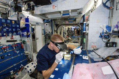 Tim Peake and ISS experiment, 2016