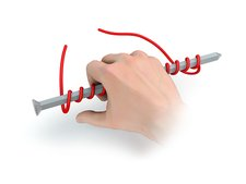 Right-hand rule for coils, illustration