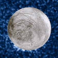 Water plumes erupting from Europa