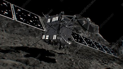 Rosetta spacecraft approaching comet