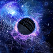 Hawking radiation, conceptual image