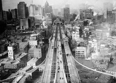View from Brooklyn Bridge, 20th century