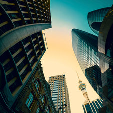 Skyscrapers, Auckland, New Zealand