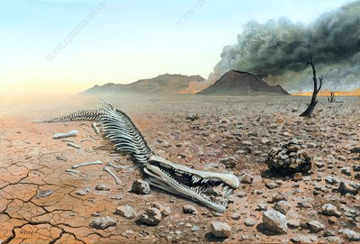 Triassic-Jurassic extinction, illustration