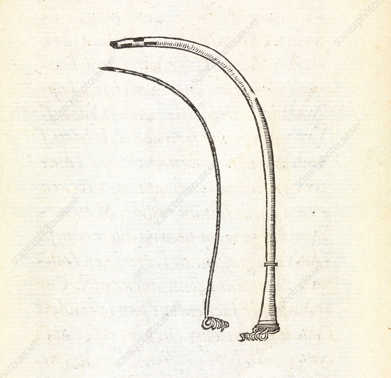 Hernia surgery instruments, 16th century