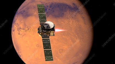 ExoMars spacecraft arriving at Mars, illustration