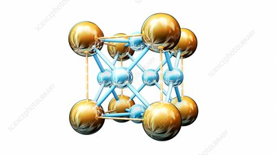 Titanium-gold alloy crystal structure
