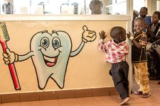 Children visiting a dentist