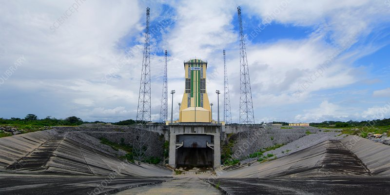 Soyuz launch pad at Guiana Space Centre.