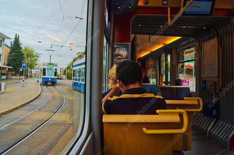 Zurich tram carriage