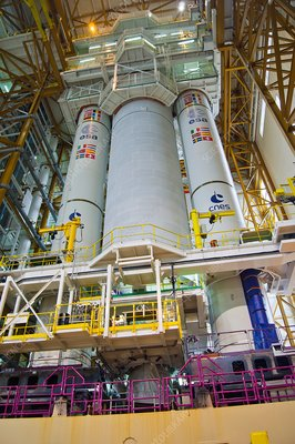 Ariane 5 launcher integration building