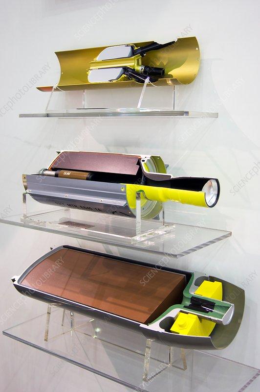 Rocket motor cutaways