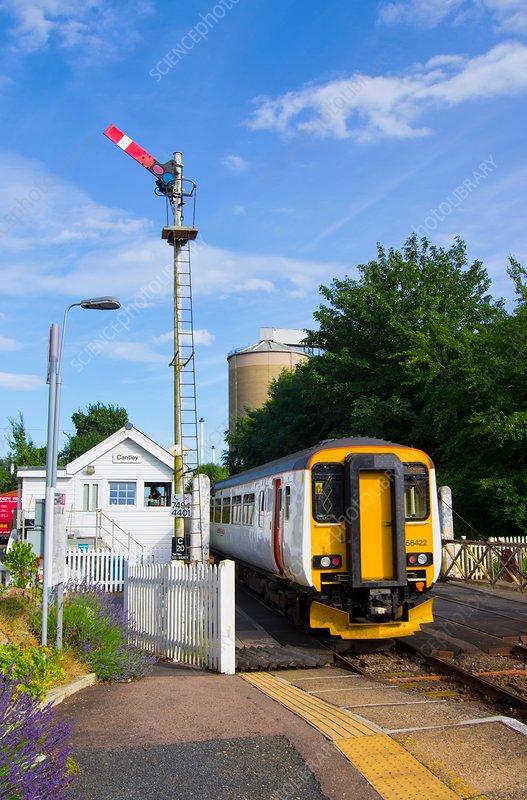 Train and signal box