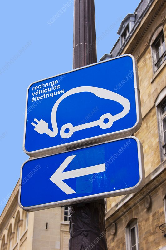Electric vehicle recharging sign