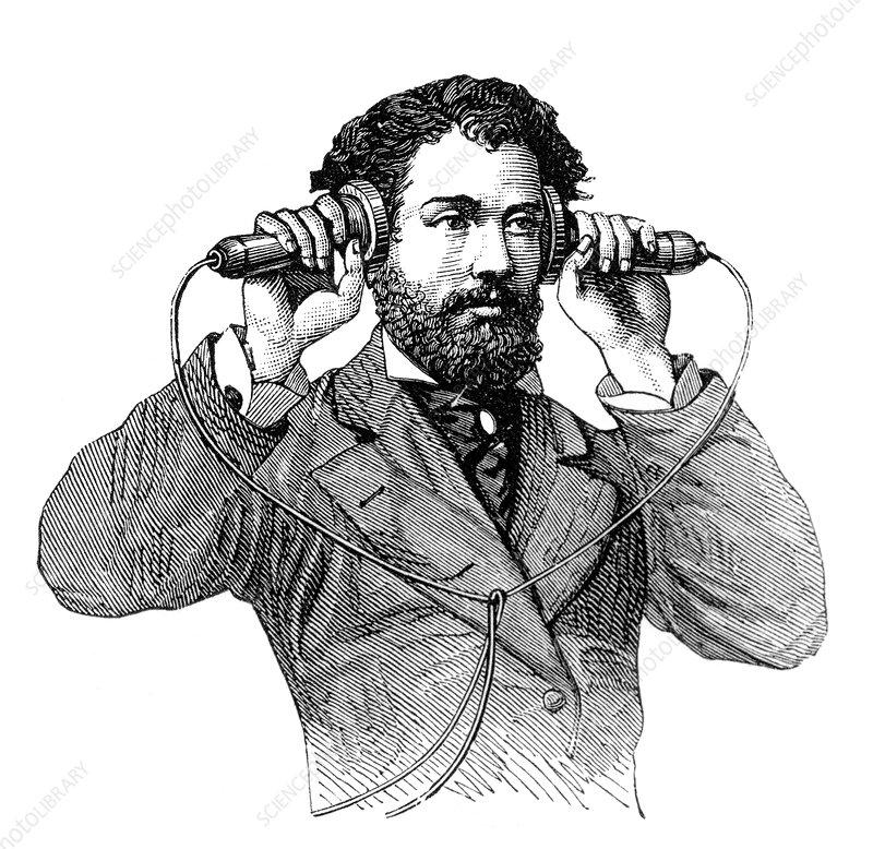Telephone Receivers, 19th Century