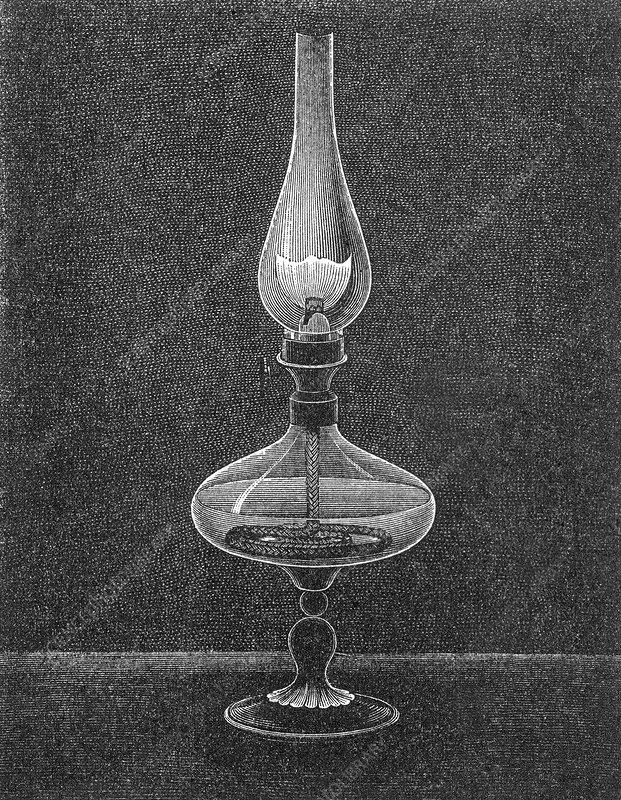 Oil Lamp, 19th Century