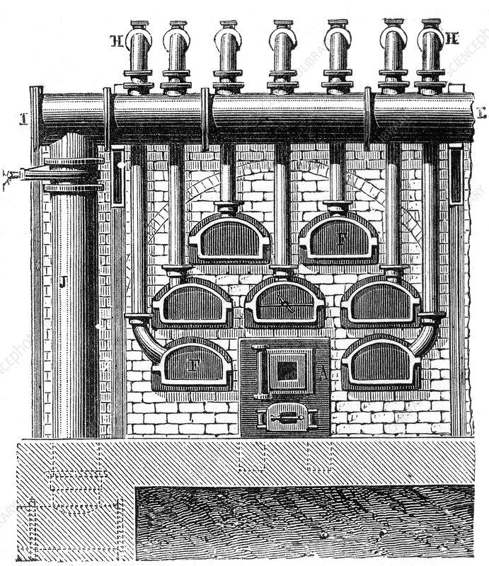 Distillation of Coal Gas, 18th Century