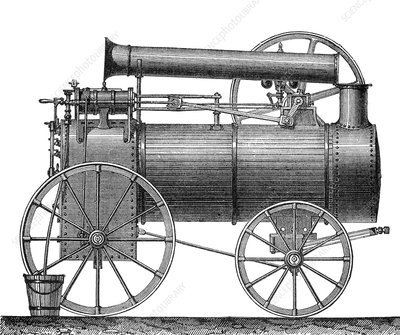 Steam Powered Traction Engine, 19th Century